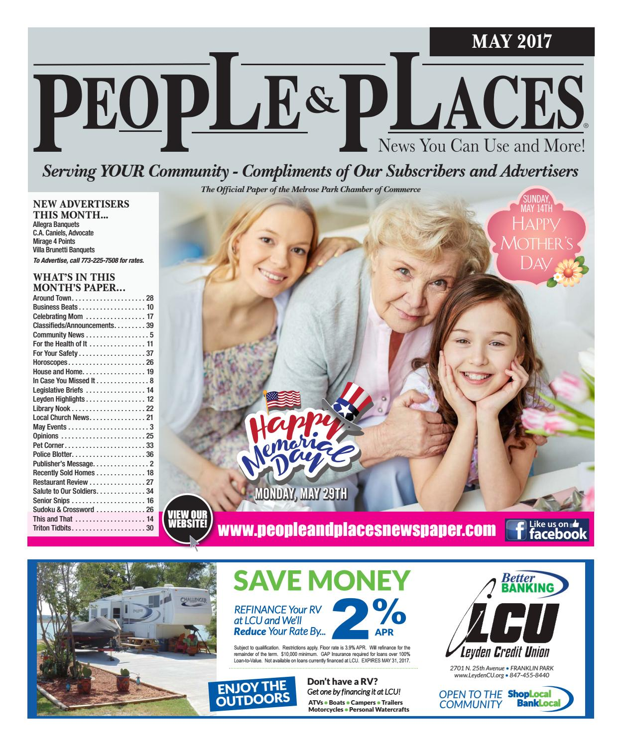 May 2017 People & Places Newspaper by Jennifer Creative - issuu