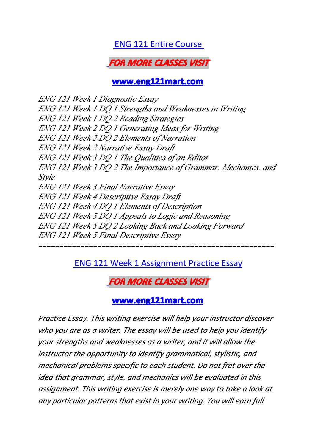 eng 121 entire course Posts about eng 121 entire course material written by leonardodavinci535.