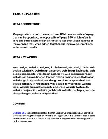 On Page Seo By Rootkitlab Issuu