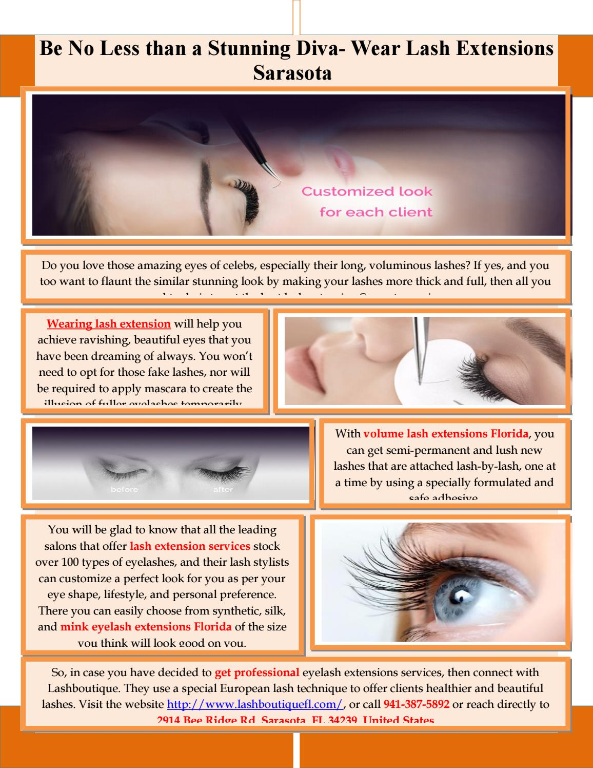Be No Less than a Stunning Diva- Wear Lash Extensions Sarasota by ...