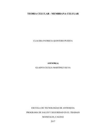 Teoria Celular Mapa Mental By Santiago Osorio Issuu