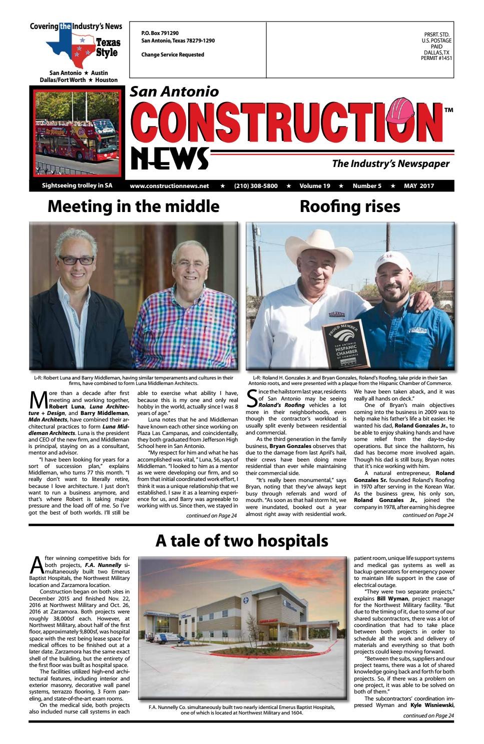 San Antonio Construction News May 2017 By Construction