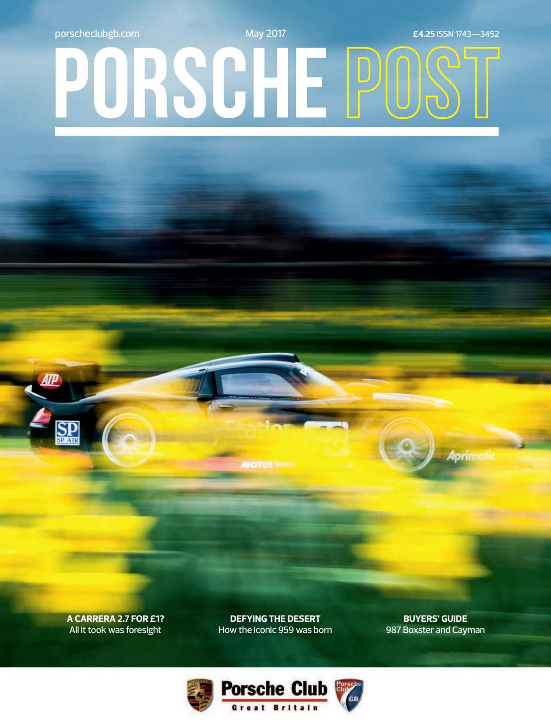 Porsche Post May 2017 By Club Great Britain Issuu 1983 Bmw R11 Classic Fuse Box Diagram