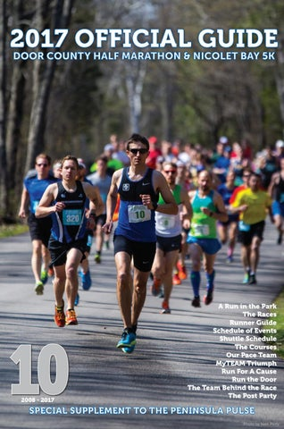 2017 OFFICIAL GUIDE DOOR COUNTY HALF MARATHON U0026 NICOLET BAY 5K