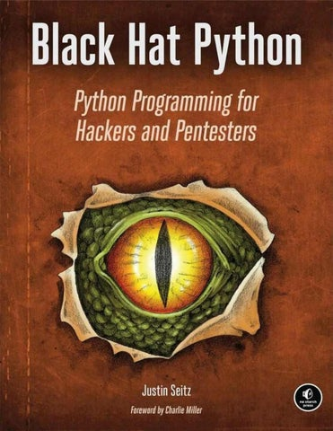 Black hat python, python programming for hackers by Jozua