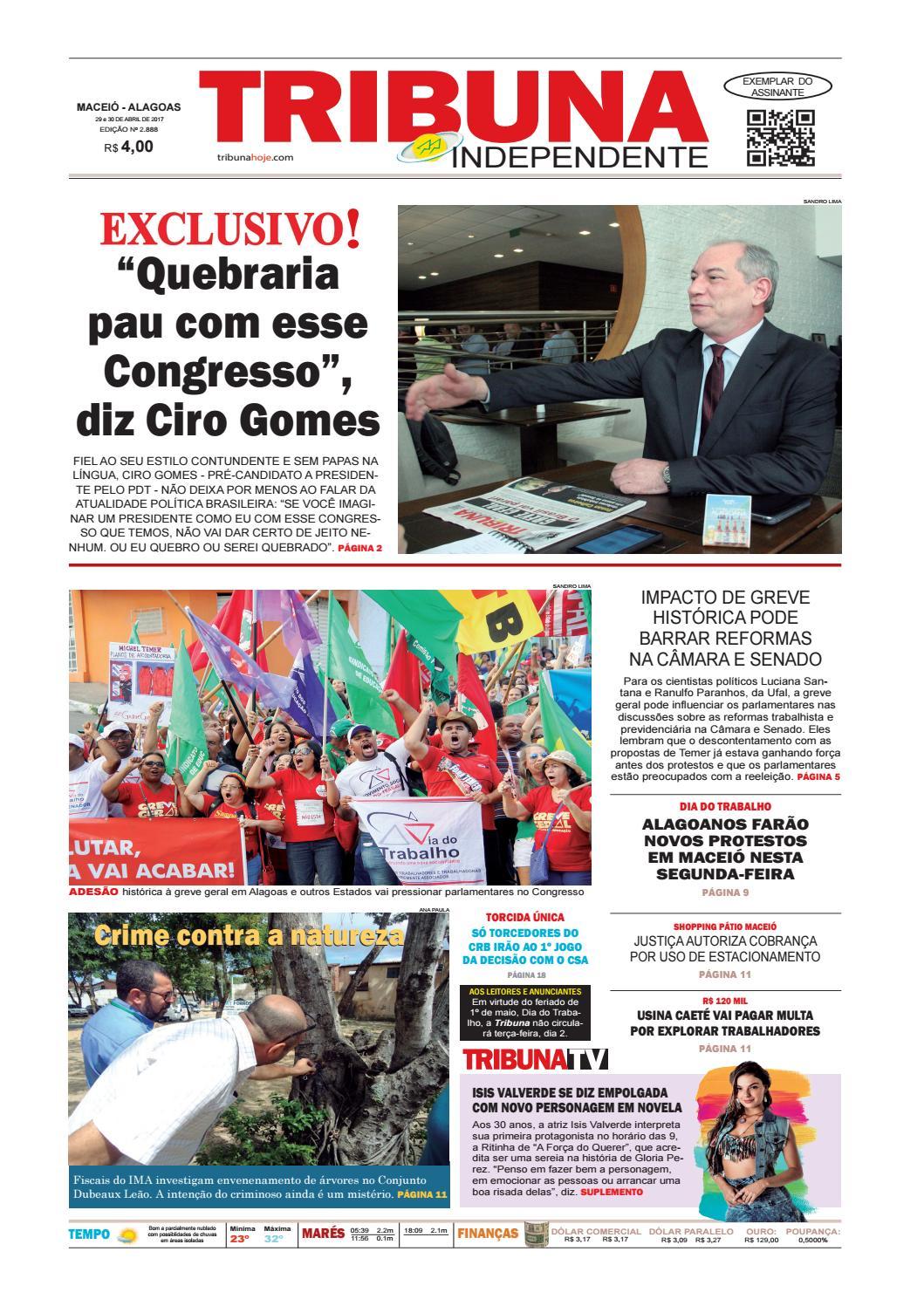 3b550b1d1 Edição número 2888 - 29 e 30 de abril de 2017 by Tribuna Hoje - issuu