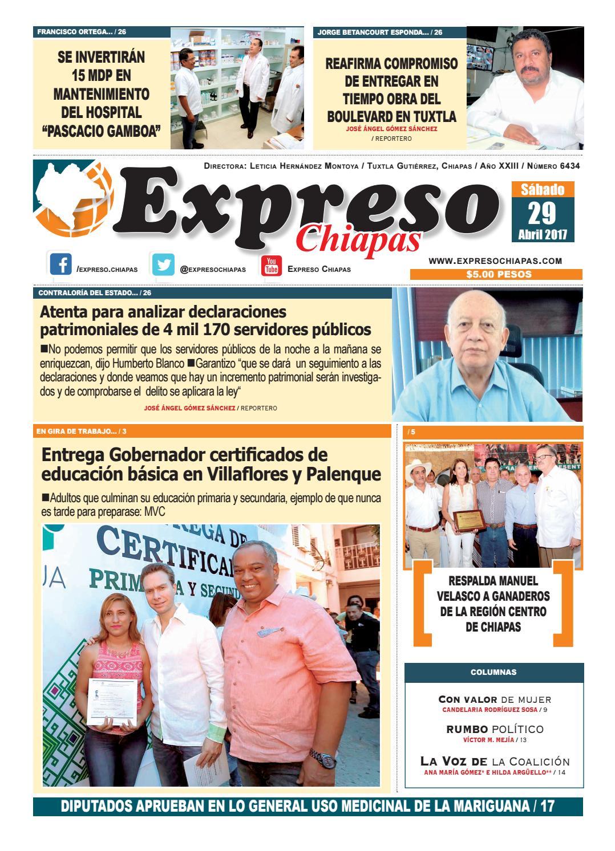 Expreso chiapas 29:04:17 by expreso chiapas - issuu
