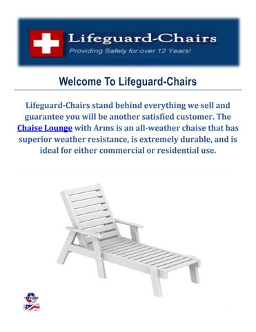 Welcome To Lifeguard-Chairs Lifeguard-Chairs stand behind everything we sell and guarantee you will be another satisfied customer.  sc 1 st  Issuu & Shop Best Chaise Lounges at lifeguard-chairs.com by Lifeguard-Chairs ...