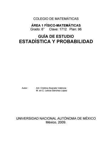 Estadistica y probabilidad enp unam by pedro daniel lara maldonado page 1 ccuart Choice Image