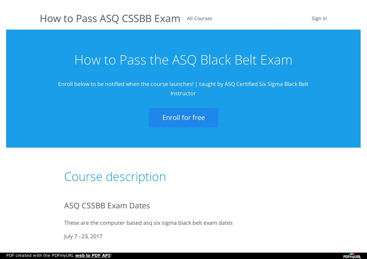 How To Pass Asq Cssbb Exam By Will Pastons Issuu