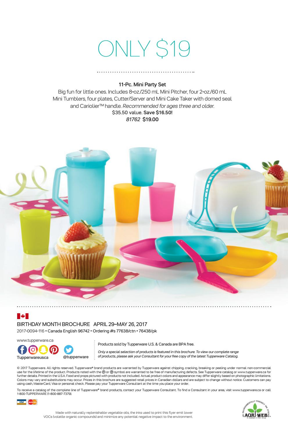 can 2017 birthday tupperware flyer by mytwpage issuu. Black Bedroom Furniture Sets. Home Design Ideas