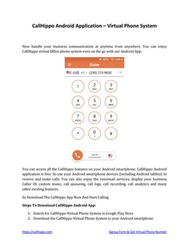 Callhippo android application virtual phone number by callhippo - issuu