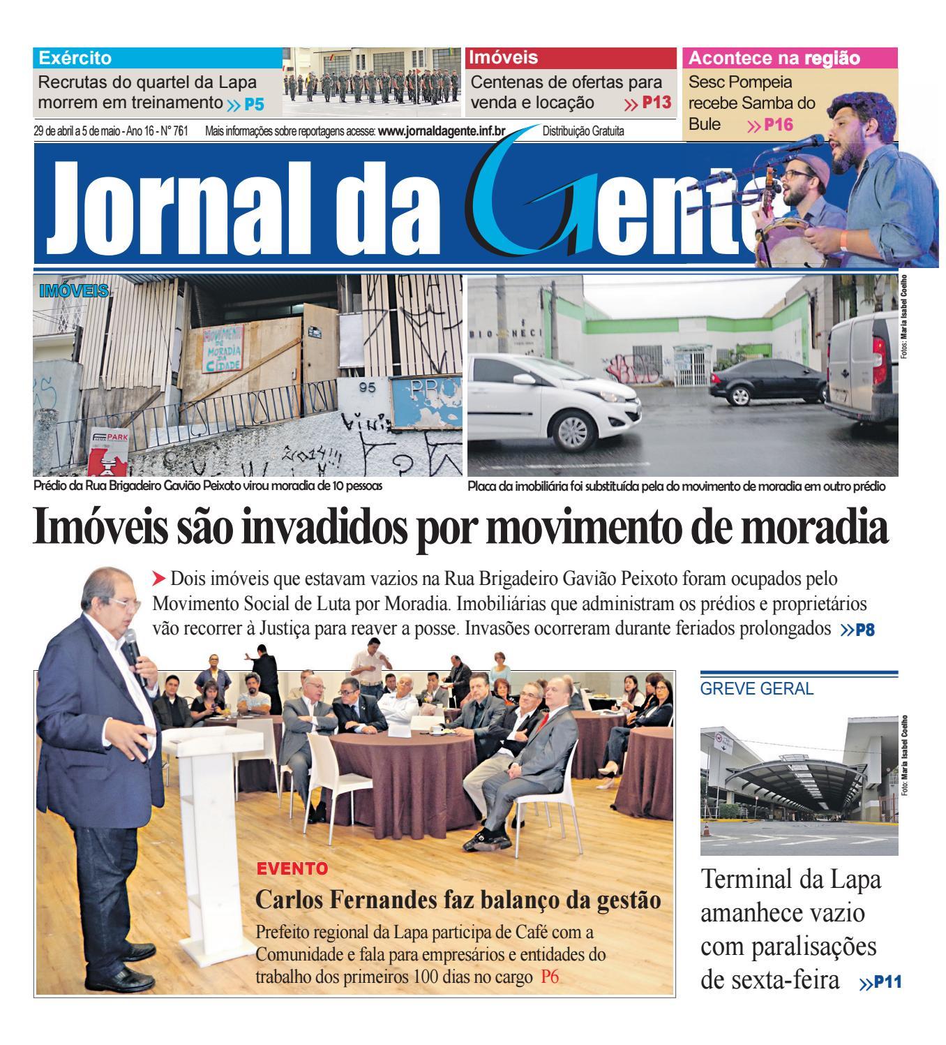 Jornal Da Gente Edi O 761 29 De Abril A 5 De Maio De 2017 By  ~ Balança De Cozinha Digital Aarmario De Cozinha Janaina
