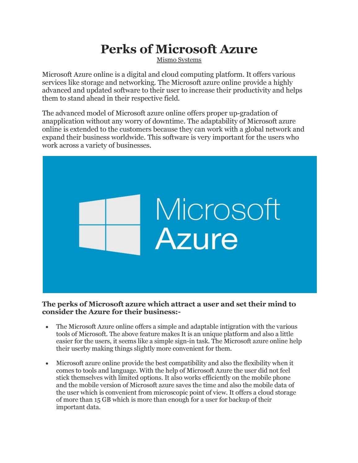 Microsoft azure cloud computing platform services - Microsoft Azure Cloud Computing Platform Services 12