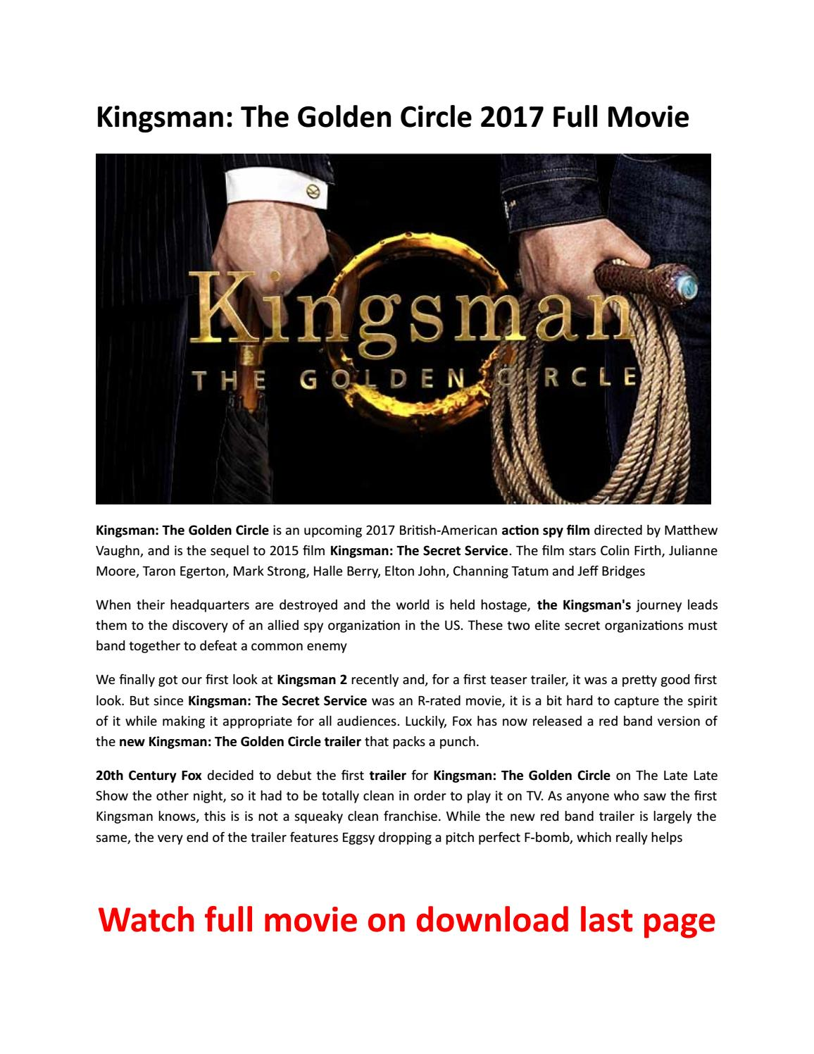 Kingsman The Golden Circle 2017 Movie Download By Majorie J Thomas Issuu