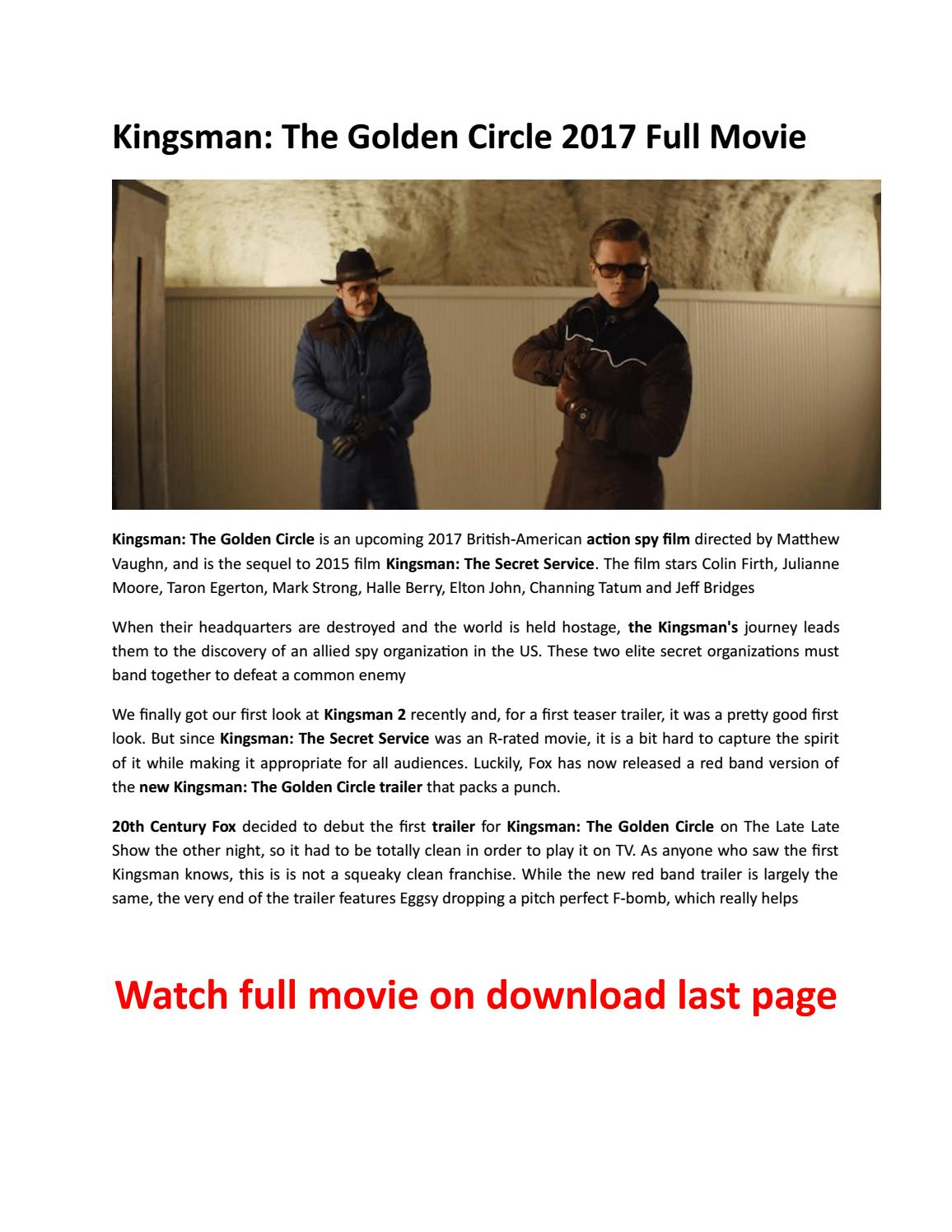 Kingsman The Golden Circle 2017download Free Movies By Majorie J Thomas Issuu