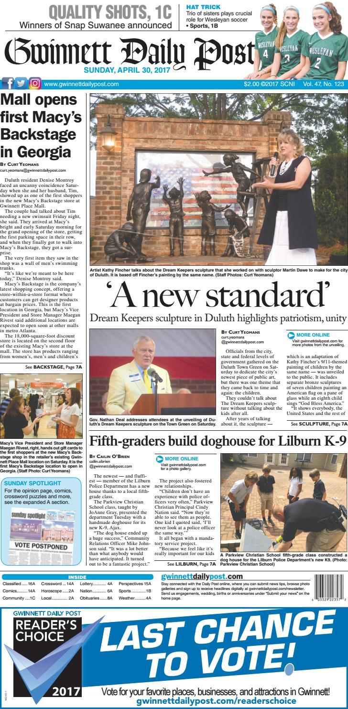 April 30 2017 Gwinnett Daily Post By Gwinnett Daily Post Issuu