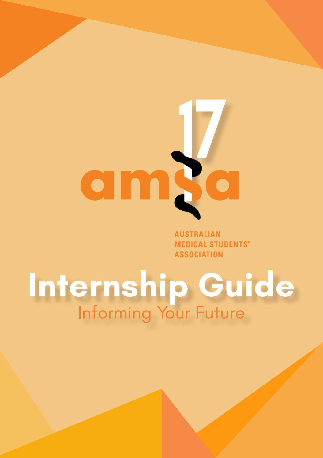 AMSA Internship Guide 2017 by The Australian Medical