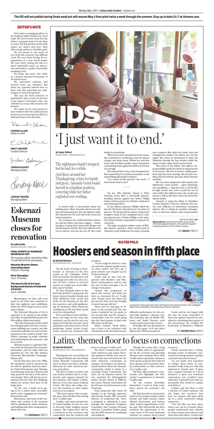 Monday, May 1, 2017 by Indiana Daily Student - idsnews - issuu