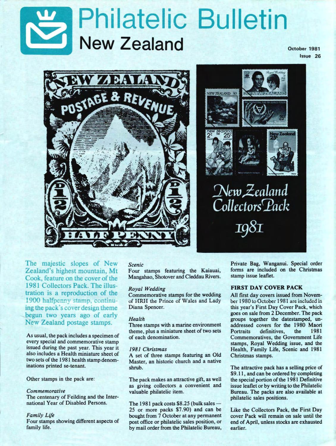 Series 4 new zealand philatelic bulletin no 26 1981 october