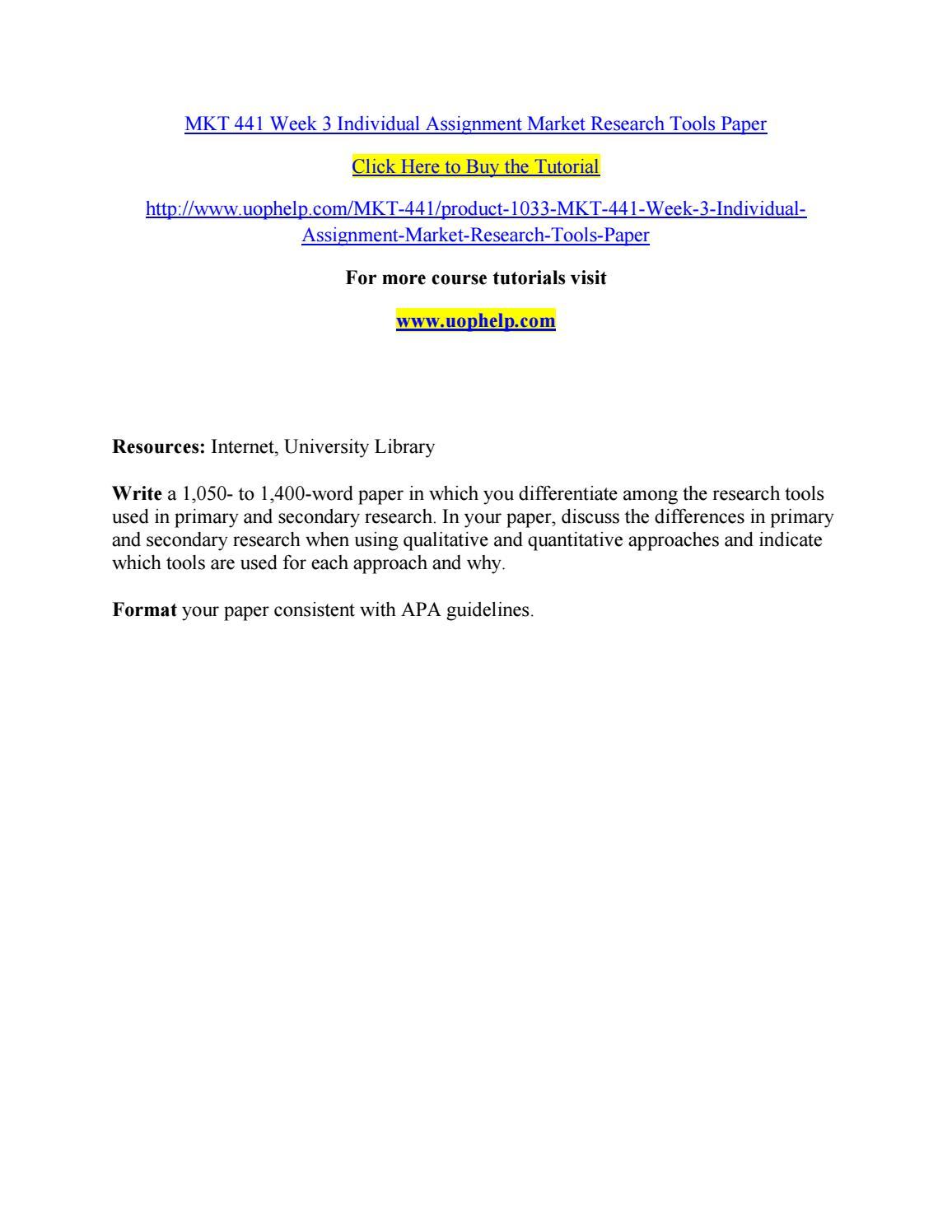 market research essay
