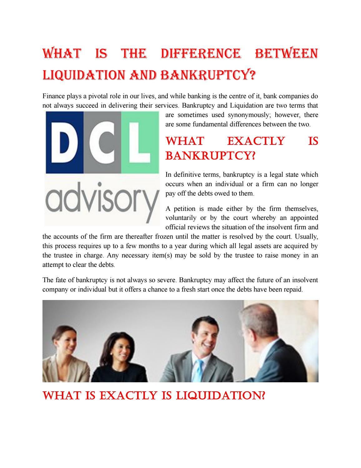 What is liquidation? 16