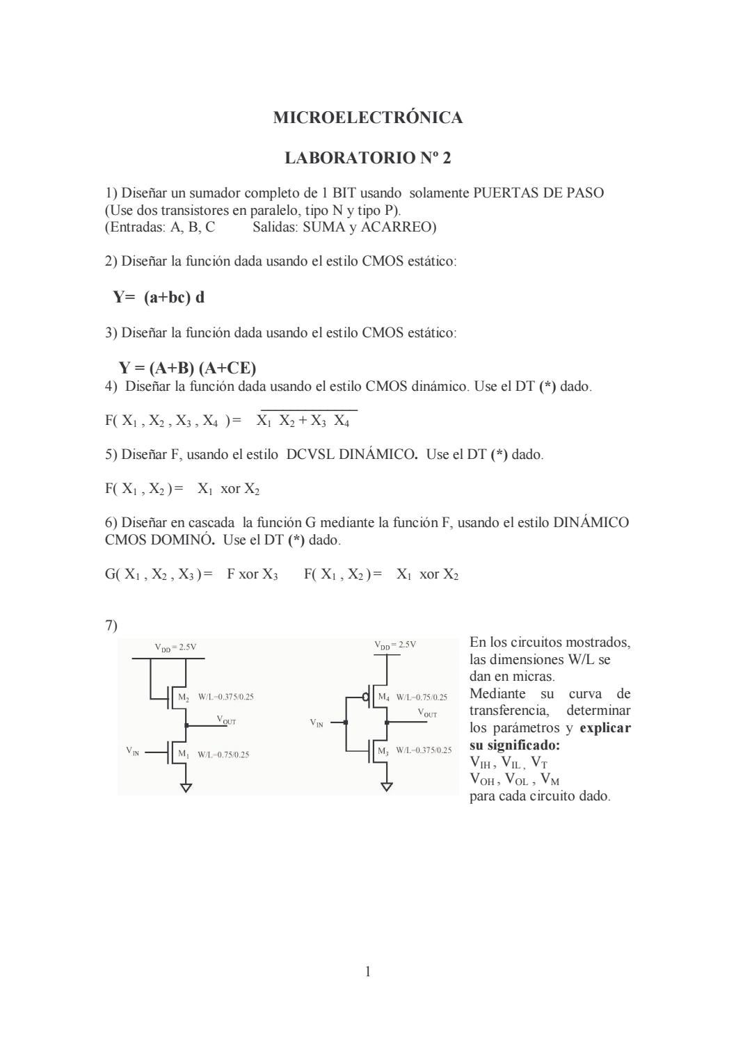 Circuito Xor : Laboratorio 2 by leo joel issuu