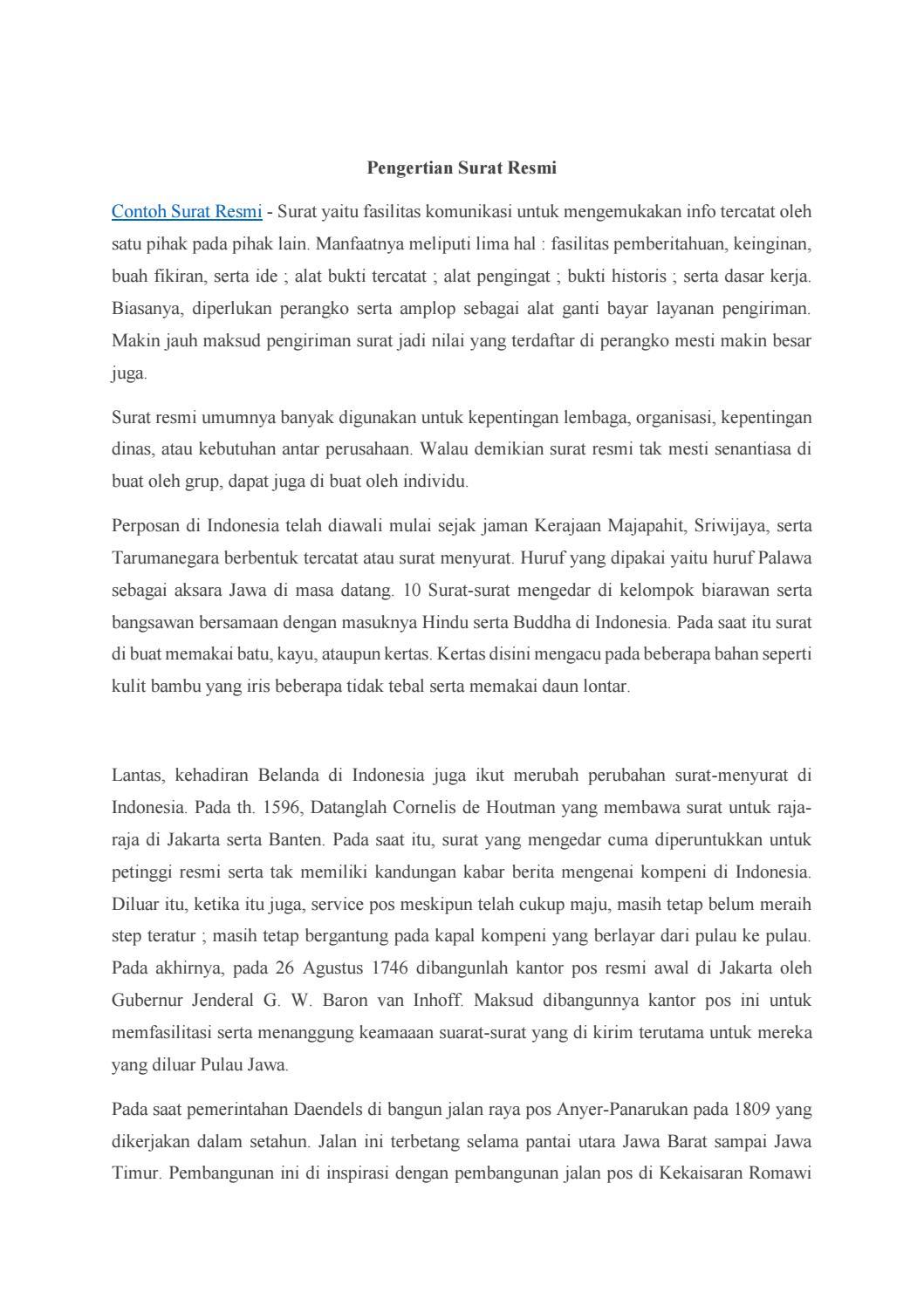 Dewa Surat Contoh Surat Resmi By Sabillahkinasih Issuu