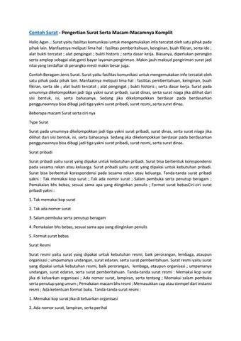 Dewa Surat Contoh Surat By Sabillahkinasih Issuu