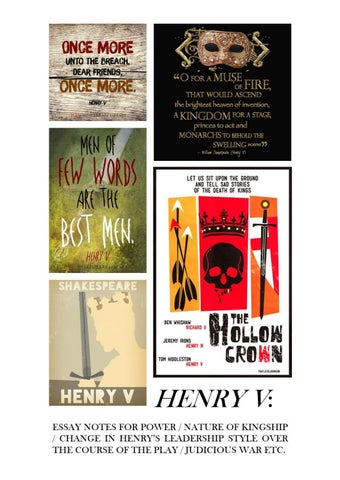 Henry V Power Essay by BSBD Creative Publications - issuu