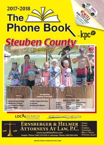 2017 2018 The Phone Book Steuben County By Kpc Media Group