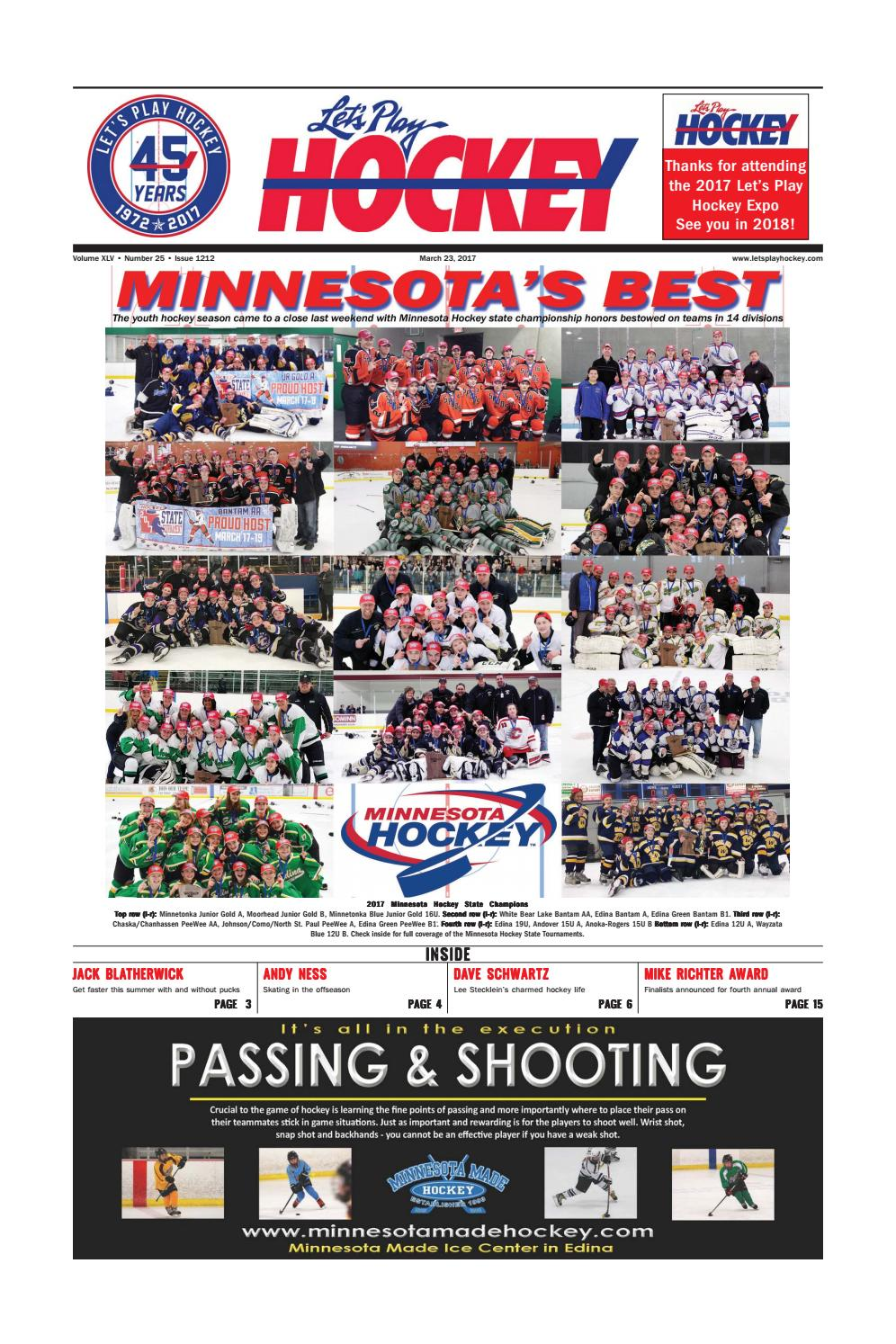 c87f3abc2b5 March 23 issue - Minnesota s Best! by Let s Play Hockey - issuu