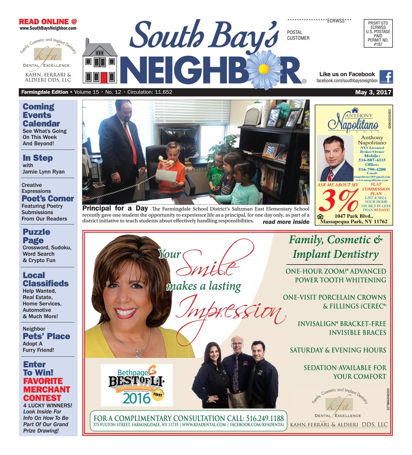 may 3, 2017 farmingdale by south bay's neighbor newspapers - issuu