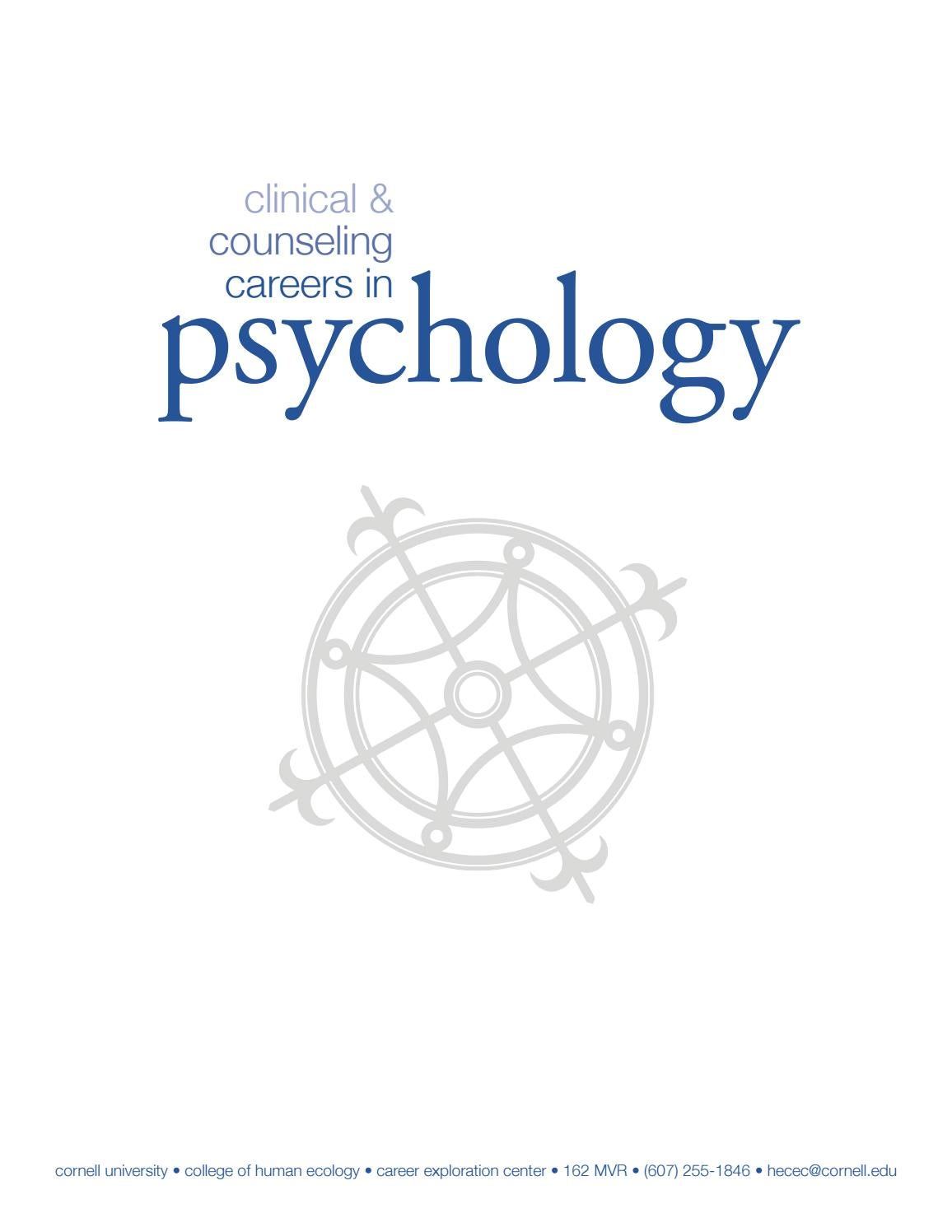 Clinical & counseling careers in psychology by CHE Career Exploration  Center - issuu