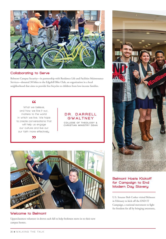 Belmont University President's Report 2016 by Belmont