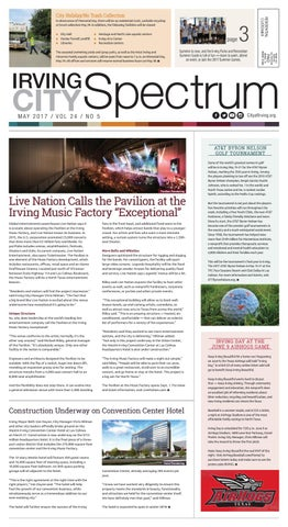 Irving city spectrum may 2017 by city of irving issuu page 1 malvernweather Choice Image