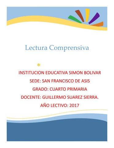 Lectura comprensiva grado cuarto by guilloSuarezSierra - issuu