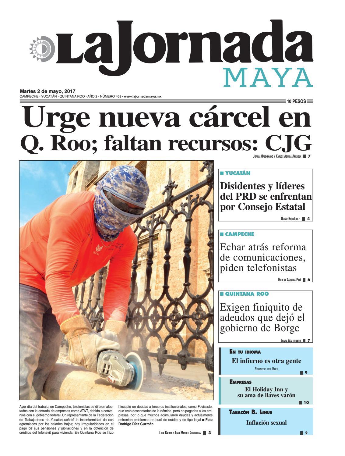 La Jornada Maya · Martes 2 de mayo, 2017 by La Jornada Maya - issuu