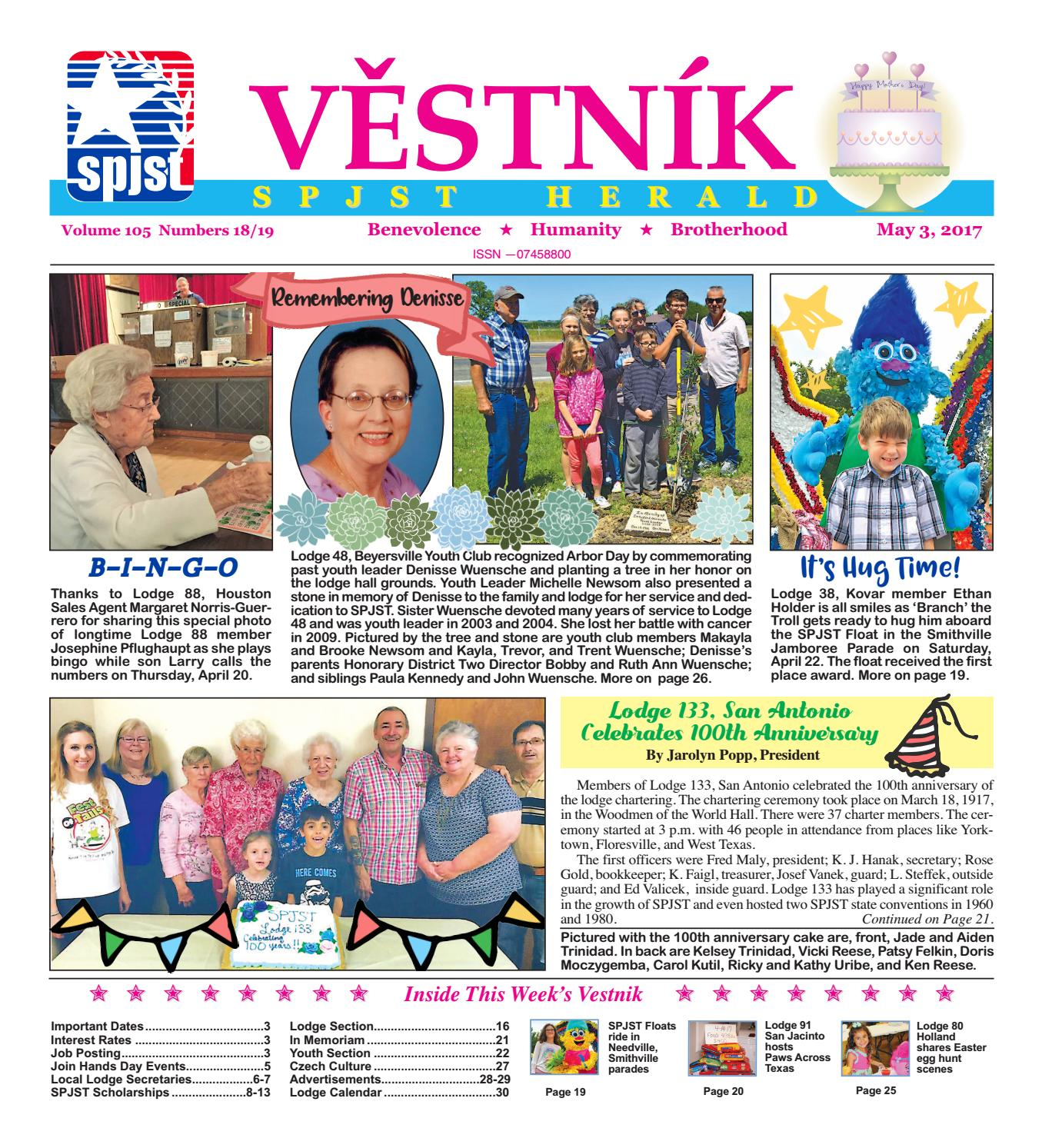 Vestnik 2017 05 03 by SPJST issuu