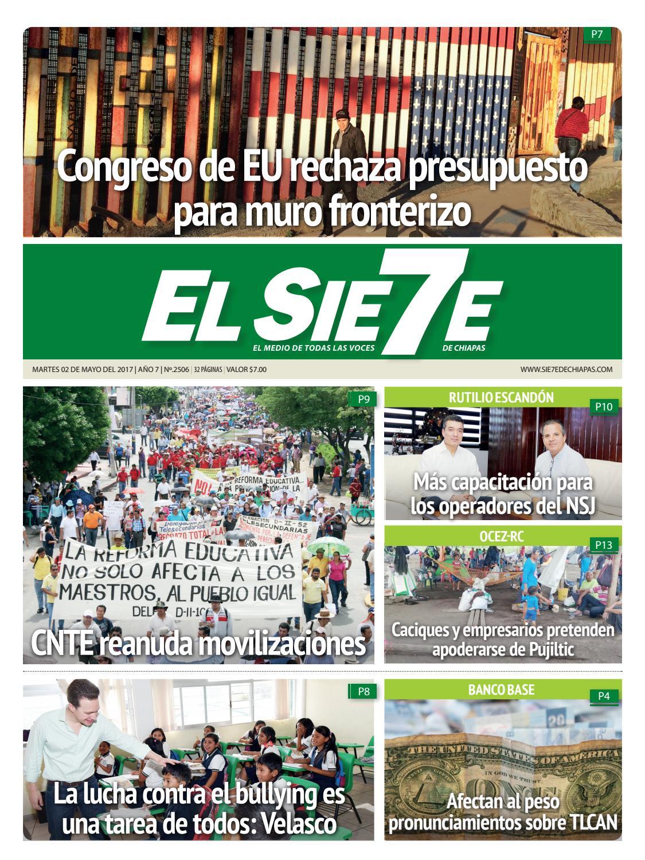 02/05/17 by El Sie7e de Chiapas - issuu