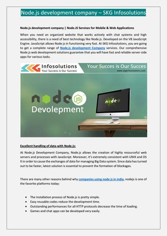 Node js development company skg infosolutions by