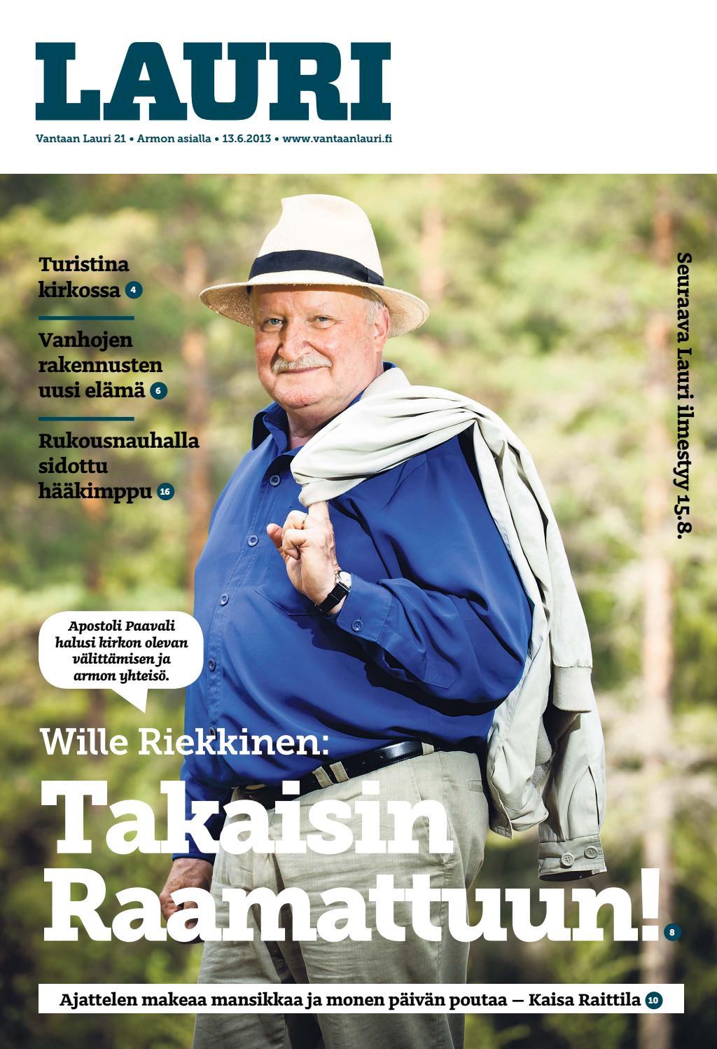 Lauri 2013 nro 21 (13 6) by Kirkko ja kaupunki - Issuu  Lauri 2013 nro ...