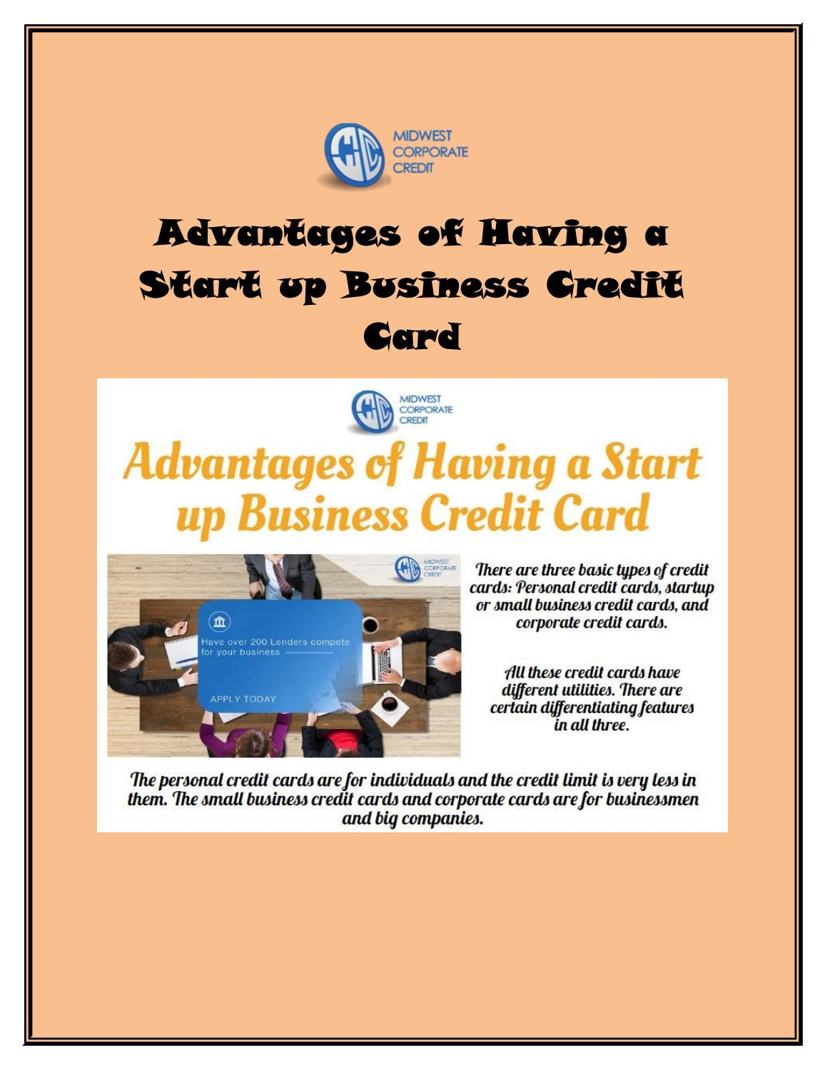 Advantages of having a start up business credit card by advantages of having a start up business credit card by midwestcorporat issuu colourmoves