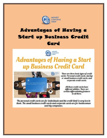 Advantages of having a start up business credit card by for Small business start up credit card