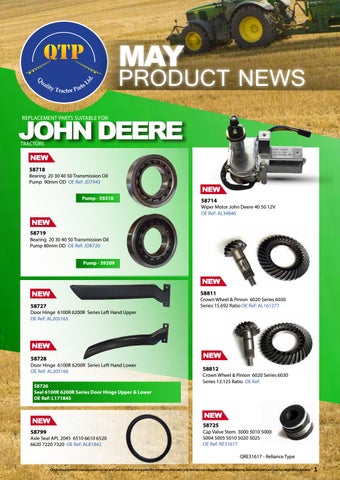 QTP May product news 2017 by Quality Tractor Parts - issuu