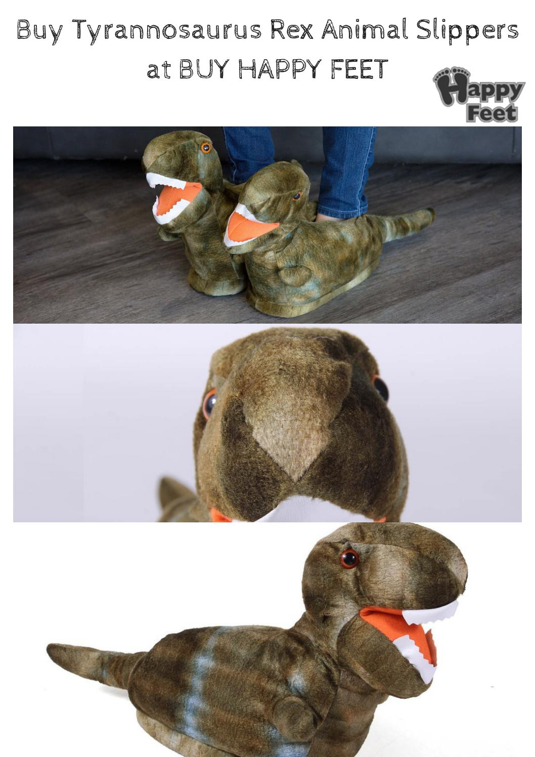 buying cheap lowest price new concept Buy tyrannosaurus rex animal slippers at buy happy feet by Pat ...