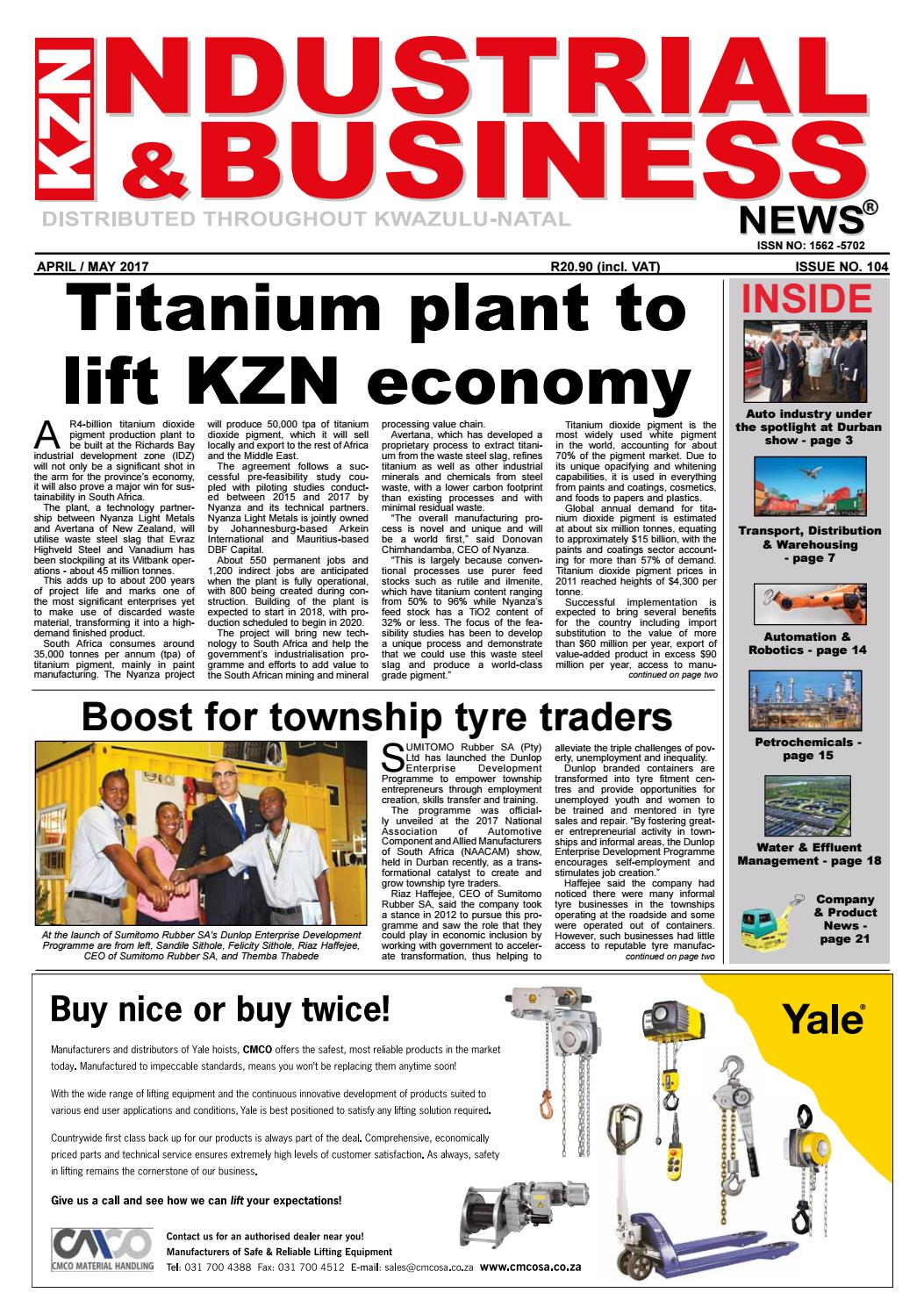 Kzn Industrial Business News Issue 104 A M 2017 By The Media Circuit Board Recycling Equipmentoffer Copper Wire Machine Events Company Issuu