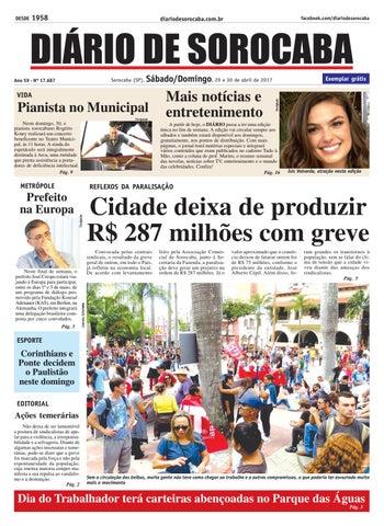 Edição 29 e 30 de abril de 2017 by DIÁRIO DE SOROCABA - issuu 48daf2bec009a