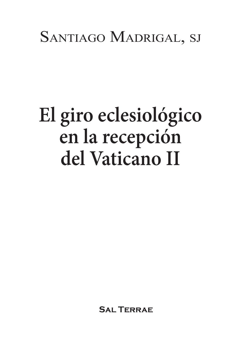 El Giro Eclesiológico En La Recepción Del Vaticano Ii 1º