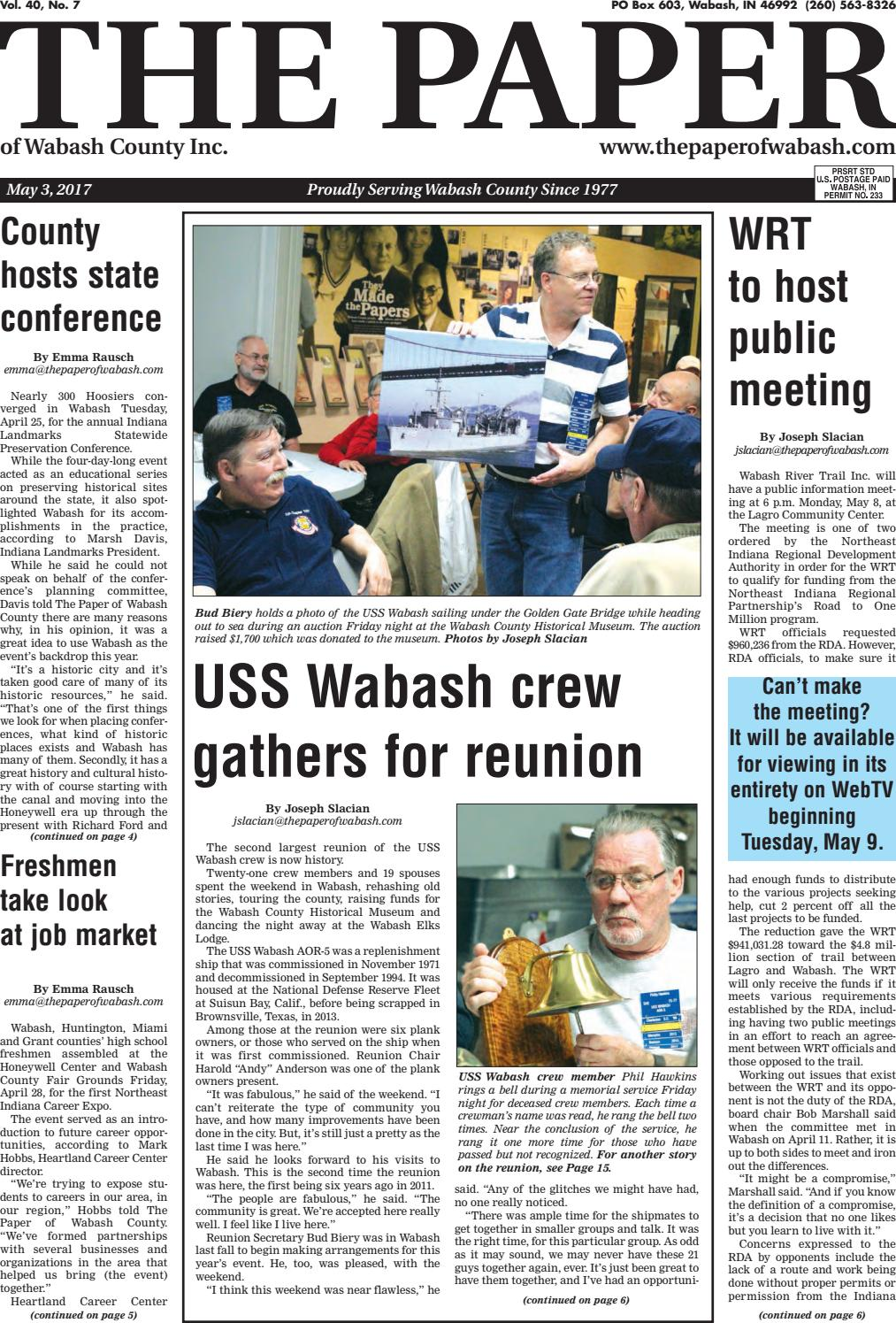 Indiana wabash county lagro - The Paper Of Wabash County May 3 2017 Issue By The Paper Of Wabash County Issuu